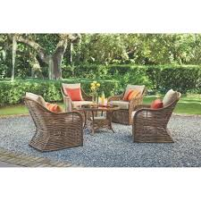 Wicker Patio Conversation Sets Patio Furniture Metropolitan Piecersation Set5 Patio Set Outdoor