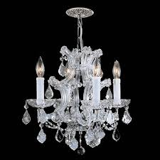 Lamps Plus Chandeliers Maria Theresa Collection Chrome 4 Light Chandelier K4954
