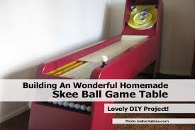skee ball table plans building an wonderful homemade skee ball game table