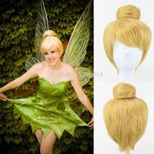 halloween costume wigs child movie peter pan fairies tinkerbell tinker bell short hair