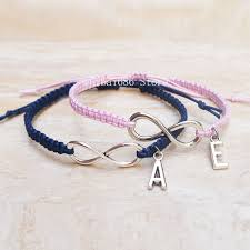 wedding gift hers initials couples bracelet infinite charm bracelet his hers