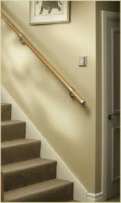 Oak Banisters Wall Mounted Handrails U0026 Oak Handrail For Stairs Pear Stairs