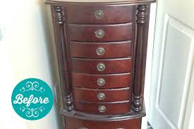 jewelry armoire makeover with valspar chalky finish paint u create