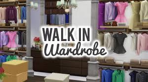 the sims 4 room build u2014 dreamy walk in wardrobe youtube