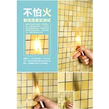 pvc kitchen mosaic wall sticker waterproof self adhesive wallpaper