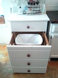 kitchen island diy pull out trashcan ikea trash can slider trash