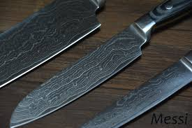 japanese damascus kitchen knives messi damascus 8 chef 5 santoku 5 uitility knife vg10 japanese