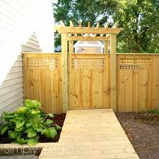 trellis fence gate home u0026 gardens geek