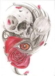 skull and flowers by kiddotattoo on deviantart flower head