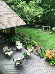 gorgeous nw greensboro azek deck project featuring the color kona and chocolate aluminum rails jpg