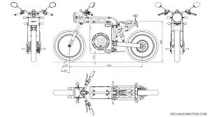 dechaves garage dch project a naked electric motorcycle cad drawings evolved from pencil sketches