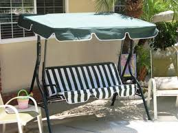 patio swing canopy replacement black polished wrought iron based