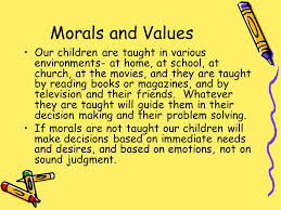 Morality and Values In Schools  Definition of Morals Morals are     SlidePlayer