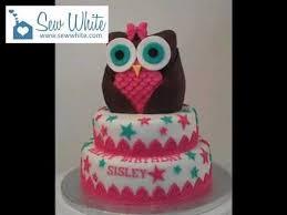 owl birthday cakes owl tiered birthday cake