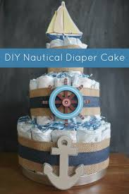 the pepper express diy nautical diaper cake