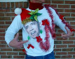 obama ugly christmas sweaters funny political humor light up