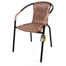 Black Metal Chairs Outdoor Bistro Chair Outdoor Mocha Wicker Rattan Woven Seat Black Metal