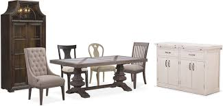 dining tables 6 person round dining table value city counter
