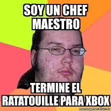 Meme Chef - meme friki soy un chef maestro termine el ratatouille para xbox