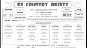 Old Country Buffet Coupons Discounts by Bj Country Buffet Home North Augusta South Carolina Menu