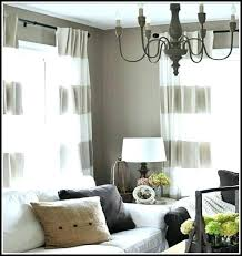 Grey White Striped Curtains Horizontal Striped Curtains Theoneart Club