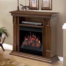 Corner Console Cabinet Furniture Brown Wooden Electric Fireplace Media Console Using