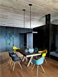 moderne stühle esszimmer gelb schwarz blau eames stuhl stylesuche