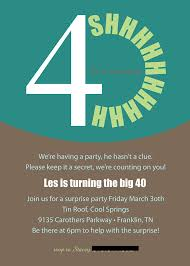 surprise 40th birthday invitations surprise 40th birthday