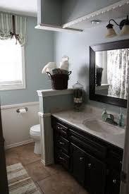 Black Cabinet Bathroom Oil Rubbed Bronze Fixtures Blue Walls I Bathrooms With Bronze Fixtures