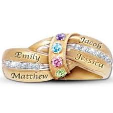 s day birthstone rings a s embrace engraved personalized birthstone ring