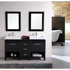 Maple Bathroom Vanity by Bathroom Contemporary Double Bathroom Vanities With Black Wall