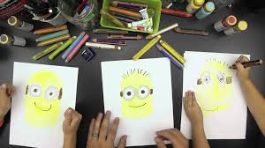 draw minion kids despicable