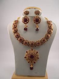 ruby necklace set images Antique jewelry necklace sets JPG