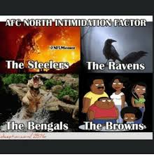 Ravens Steelers Memes - afc north intimidation factor onflmemez the steelers the ravens the