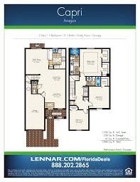 home floorplans aragon by lennar homes town home floorplans