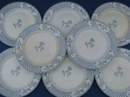 the exeter blue white vintage china plates johnson bros