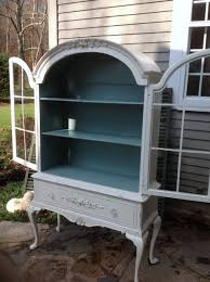 fench country china cabinet painted white