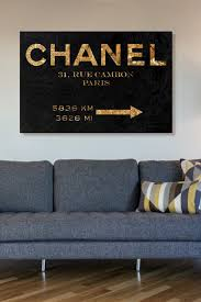 Bedroom Wall Canvases Oliver Gal Couture Road Sign Night Canvas Wall Art On Hautelook