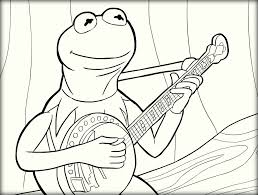 kermit the frog coloring pages color zini