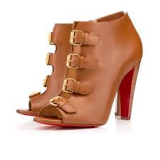 bottines christian louboutin camisol calf cuoio heel femme 100mm
