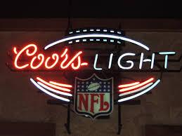 vintage coors light neon sign neon beer sign nfl football coors light neon beer signs