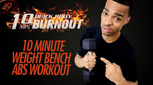 Workout Weight Bench 10 Min Abs Workout Using A Weight Bench Bench Ab Exercises 10
