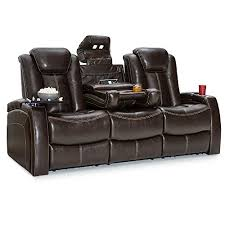 seatcraft republic leather home theater seating power recline