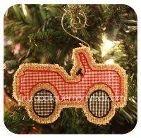 for the quilt atv ornament applique design diy