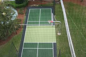 tennis court surfaces neave sports photo with cool backyard tennis