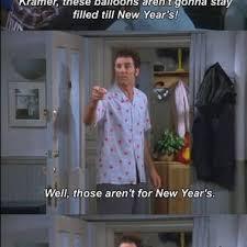 Kramer Meme - kramer has new year balloons and everyday balloons on seinfeld