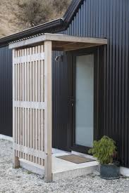 Barn Style by Barn Style House Black Corrugated Iron Wooden Entranceway