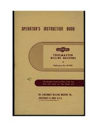 cincinnati toolmaster operators manual