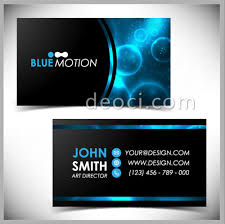 Business Card Eps Template Blue Technology Elements Of Business Card Design Templates