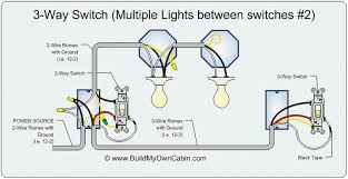 3 way and 4 wiring diagrams with multiple lights for switch